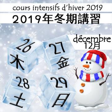 2019年 Cours intensifs d'hiver 冬期講習の画像